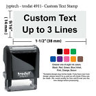 Mini Trodat 4911 Self Inking Rubber Stamp Custom Text up to 3 Lines