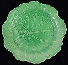 Wedgwood Of Etruria & Barlaston Majolica Pottery Green CABBAGE LEAF Plate - 2049