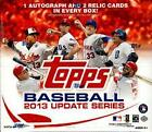 2013 Topps Update Series Jumbo & Reg Hobby Box, Puig, Machado, Myers, 2 Boxes
