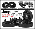 4 Black 125 inch Jeep Hubcentric Wheel Spacers JK Wrangler Grand Cherokee
