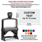 King Size Trodat 5211 Rubber Self Inking Stamp Custom Text up to 12 Lines