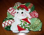 FITZ and FLOYD Christmas Bunny Blooms Canape Cookie Plate Essentials Collection