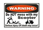Moped Scooter Sticker D827 Funny Warning
