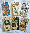 Vintage Country Fair 6 Large Hang Tags Scrapbooking Cards 117 judysjemscrafts