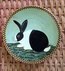 Lenox Plate Black And White Bunny By Warren Kimble 1994