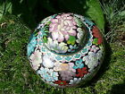 Authentic Vintage Quality Chinese Cloisonne Floral Ginger Jar