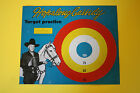 VINTAGE 1950 MID CENTURY HOPALONG CASSIDY TIN LITHO METAL TARGET BOARD TOY