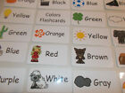 Colors Flash Cards Preschool and Pre Kindergarten learning activity 20 cards
