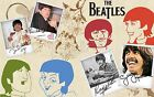 The Beatles 8x10 Fabric Quilt Block Quilting Blanket Sewing Fusing Square 13