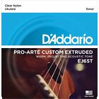 DAddario EJ65T Pro Arte Custom Extruded Tenor Nylon Acoustic Ukulele Strings