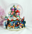 Merry X'mas Santa claus & Snowman family music box Snowglobe