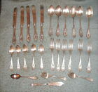 Lot 26 Pcs 1847 Rogers Bros Old Colony Silver Plate Flatware Knives Forks Spoons