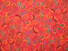 FLIPPING FLORIA- BRITE RED-100% Cotton Fabric- By the Yard-Free Shipping!