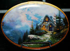 THOMAS KINKADE COLLECTORS PLATE SCENES OF SERENITY RAINBOWS END COTTAGE