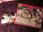 LENOX HOLIDAY MUSICAL SNOWGLOBE CENTERPIECE NEW IN ORIGINAL BOX SANTA W/REINDEER