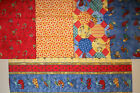 Red Rooster Flannel~~~FQ Bundle   18 X 21~~5 Pieces  1 1/4 Yd Total