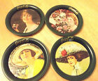 VTG Coca-Cola Coke Coasters Gibson girl barware 1983 tin advertising Ohio art