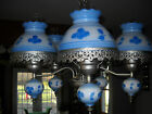 HAND PAINTED OIL LAMP STYLE CHANDELIER CEILING LIGHT FIXTURE