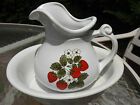 McCoy Pitcher & Basin Set #7515 - Strawberries