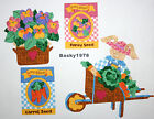 Easter Garden Gardening Bunny Seeds Basket / Iron on Fabric Appliques No Sew