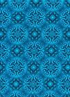 Fabric #2328, Blue Medallions, Jason Yenter, End of Bolt at 28 & 1/2 Inches