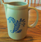 RARE McCoy Pottery Pitcher #1429 Bluefield Lancaster Colony Blue Leaf 1970's