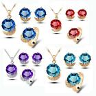 HOT Austrian Crystal Necklace Eaarrings ring  Accessory For Wedding Party