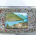 A RARE VINTAGE MADE IN JAPAN BEAUTIFULLY DECORATED HINGED LID METAL BOX
