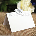 25 50 100 Wedding Party Table Place Cards Invitation Name Heart Decoration White