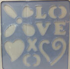 Creative Memories Cutting System Shape Templates Patterns LOVE Hearts Stencil