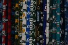 NFL all cotton fabric 1 2 yard long cuts 58 wide