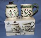 ONEIDA OLIVETO Covered Sugar and Creamer Set - NIB - Discontinued