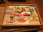 Vintage 1940's German GES GESH Antique Wooden Toy Block Set