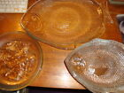 Vintage Clear Glass Fish Dinner Plates (set of 6) and Fish Platter (1) Oven Safe