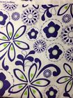 SNUGGLE FLANNEL Modern Purple And Green Floral 100 Cotton Fabric 1 Yard