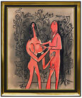 Francis Newton Souza AUTHENTIC ORIGINAL Painting Signed Cubism Art oil Framed FN
