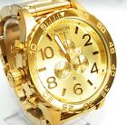 New Nixon Watch 51-30 Chrono All Gold Men's A083502 A083-502 100% Authentic SALE
