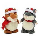 [NEW] XMAS Talking Walking Hamster Pet Record Plush Toy Gift