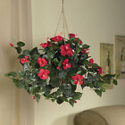 New Hibiscus Hanging Basket Silk Plant Nearly Natural Artificial House flower