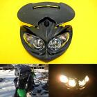 New Universal Motorcycle Racing Streetfighter Carbon Headlight Head Lamp Fairing