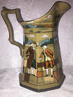 ANTIQUE 1908 BUFFALO POTTERY DELDARE WARE YE OLDEN DAYS PITCHER SIGNED MINT 10