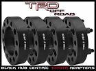4 PC TOYOTA 15 THICK BLACK HUB CENTRIC WHEEL SPACERS ADAPTERS 6X139 OR 6X55