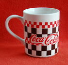 Coca-Cola Brand Checkered Mug 1996 by Gibson - Excellent Condition