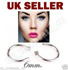 Sterling Silver Thin Small Silver Open Nose Lip Eyebrow Ring Hoop 6mm Piercing