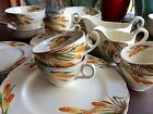 Creampetal Grindley England 37 pc China Wheat Fire Poker Fall Colors LOVELY!