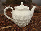 SPODE IMPERIAL FANCIES TEAPOT AND LID PINEAPPLE WHITE ENGLAND CHINA