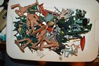 SMALL LOT OF 80 PLUS PLASTIC TOY ARMY MEN PLUS OTHER  PLZ. READ