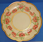 ANTIQUE LIMOGES PORCELAIN PLATE HAND PAINTED GOLD POPPY ART NOUVEAU FRANCE 1903