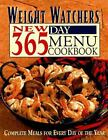 Weight Watchers New 365 Day Menu Cookbook Complete Meals for Every NoDust
