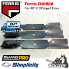 3 Genuine 5101986 Blades  48 iCD Deck for Ferris  IS600Z  Simplicity